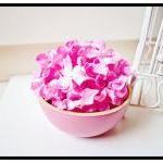 30 Pink Gardenia Curly Petals / pac..