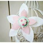 Felt Flower with Button cen..