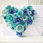 Heart-shaped Swirl Flower c..