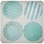 4 Parisian Lace Doily blue ..