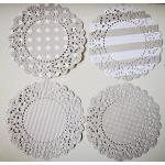 4 Parisian Lace Doily grey ..