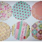 6 Parisian Lace Doily Mixed..