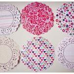 6 Parisian Lace Doily paper..
