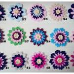 5 pieces of Flower felt emb..
