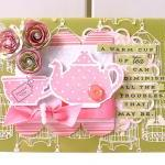 A cup of tea thank you card..