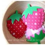 3 Strawberry felt with foam..
