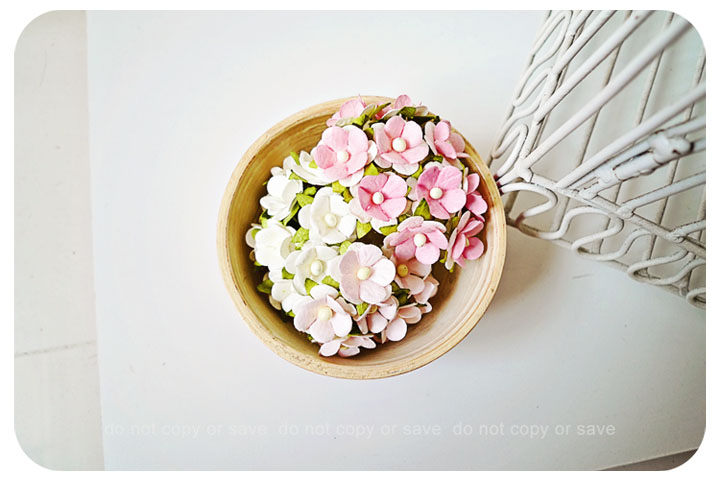 30 Mixed pink & white flowers / pack