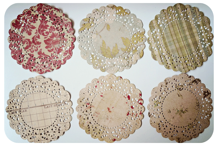 6 Parisian Lace Doily Kraft / pack 