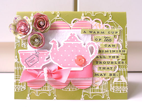 A cup of tea thank you card 
