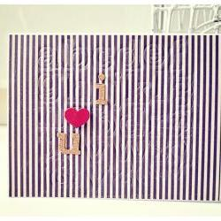 I heart u (stripe) card