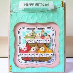 Happy Birthday with cupcake cards
