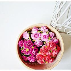 New! 30 Mulberry mixed pink paper Rose Buds flower/ pack