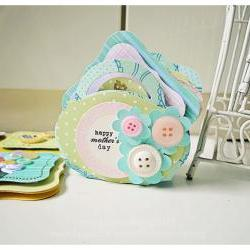 Mini button Spring cards