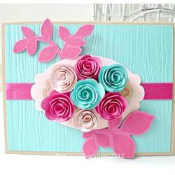 Swirl Flower card
