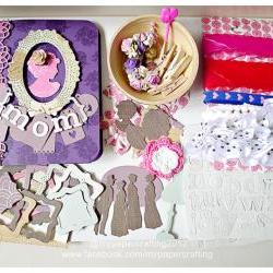 Happy Mother's Day Album Kit using Crate paper - Mia Collection