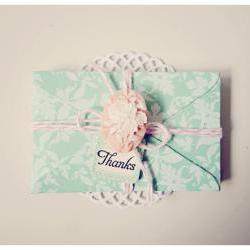 6 tiny aqua mist envelope / pack  