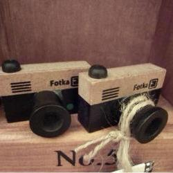 NEW 2 Small vintage LOMO Camera wood stamp