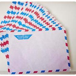 10 Airmail Grid Envelopes