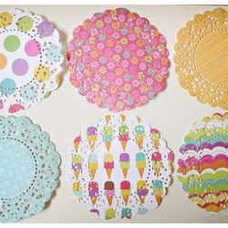 6 Parisian Lace Doily Summer echo park/ pack