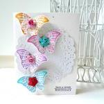 Butterfly colorful Happy Birthday handmade card