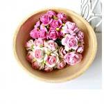 Mulberry Rose Buds paper flower mixed color / pack