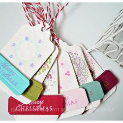 Christmas Wreath Holiday Tags