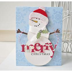 Merry Christmas Snowman Card