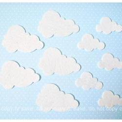 10 mixed clouds shape felt
