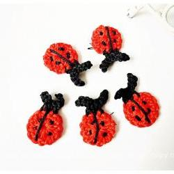 Lady bugs crochet applique