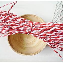Red &amp; White paper Twine  