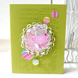 I feel so lucky to have you handmade card