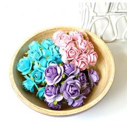 30 Mulberry mixed color paper Rose Buds flower/ pack